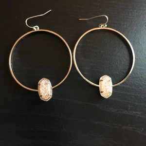 Elora Gold earring with sand druzy